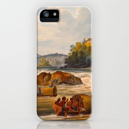 Brazilian Fort St Cabriel Illustrations Of Guyana South America Natural Scenes Hand Drawn iPhone Case