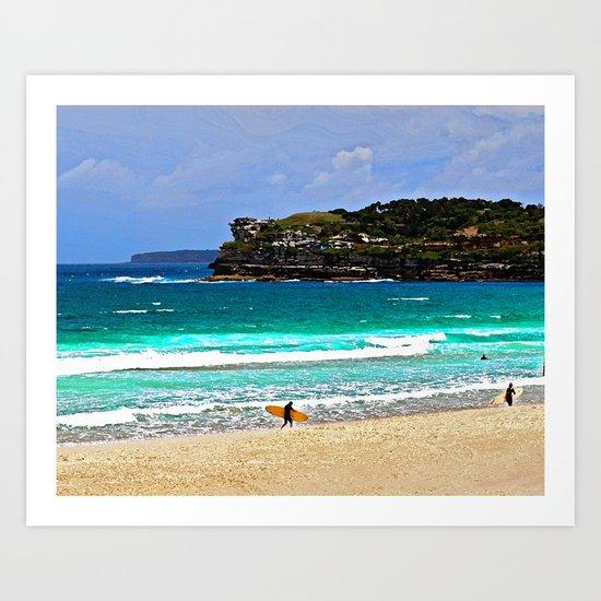 Bondi Surfers Art Print