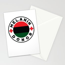 Black History Month African American Black Pride Shirt Light Stationery Cards