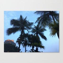 Palm trees at Sunway Lagoon Resort, Malaysia Canvas Print