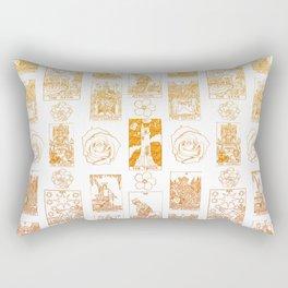 Beautiful Golden Tarot Card Print Rectangular Pillow