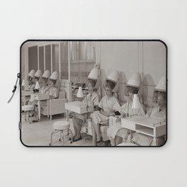 Retro Beauty Salon, Hair Dryers, Vintage Photograph Laptop Sleeve