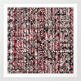 Linear Thinking Trip Switch (P/D3 Glitch Collage Studies) Art Print