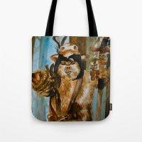 ewok Tote Bags featuring Ewok Shaman by Tuesday Glennan