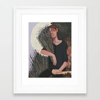 snk Framed Art Prints featuring SNK- Lavender by Dylo