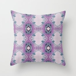 Arabidopsis flower stem microscopy pattern pink Throw Pillow