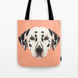 Dalmatian // Peach / Apricot Tote Bag