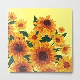 September Garden. Yellow flowers Metal Print