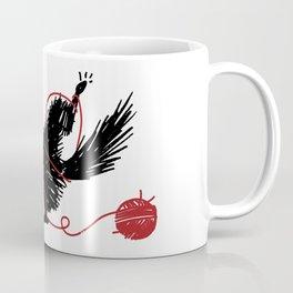 Vevekojotl playing with red clew Coffee Mug