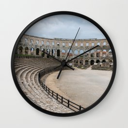 Pula Arena in Istria, Croatia Wall Clock