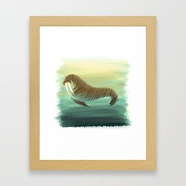 W for Walrus Framed Art Print