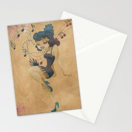 charleston dancer Stationery Cards