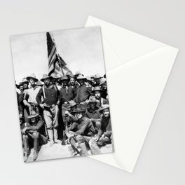Teddy Roosevelt And The Rough Riders Stationery Cards