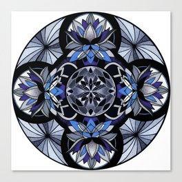 Ajna third eye chakra mandala. Canvas Print
