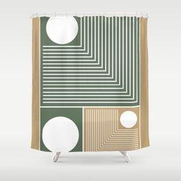 Stylish Geometric Abstract Shower Curtain