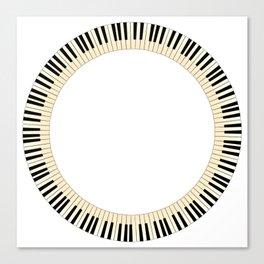 Pianom Keys Circle Canvas Print