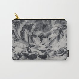 Desert Rose in Black and White Carry-All Pouch