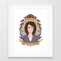 heymonster Framed Art Prints featuring Ellen Ripley by heymonster