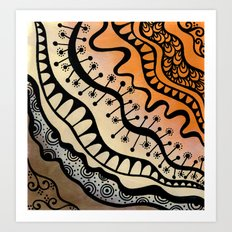From copper to bronze tangled Art Print