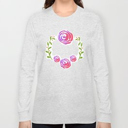 Floral Round Long Sleeve T-shirt