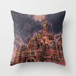 Shangai Cartoon Castle Artistic Illustration Firework Style Throw Pillow