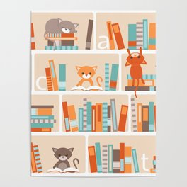 Library cats Poster