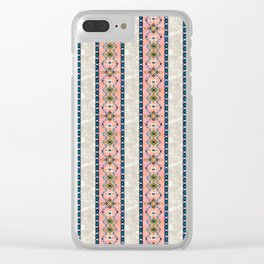 Boho Basic 3 Beige Clear iPhone Case