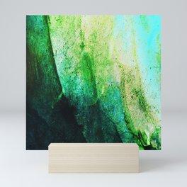 STORMY MINT AND GREEN v2 Mini Art Print
