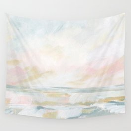 Golden Hour - Pastel Seascape Wall Tapestry