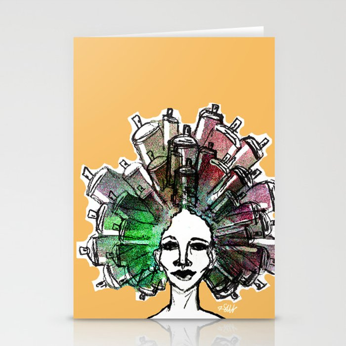 Paint the town Stationery Cards