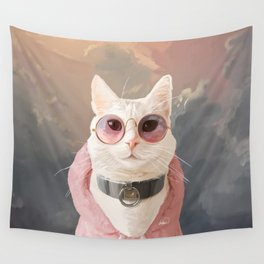 Fashion Portrait Cat Wall Tapestry