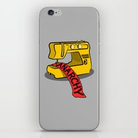 anarchy iPhone & iPod Skins featuring Anarchy Sewing Machine by mailboxdisco