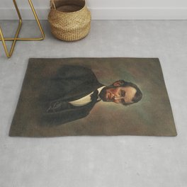 Oil Painting of Abraham Lincoln (1809-1865) by The Alfred Whital Stern Collection of Lincolniana col Rug