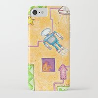 lab iPhone & iPod Cases featuring Robot Lab by Cheryl Chiappetta Murray
