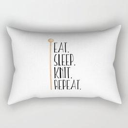 Eat Sleep Knit Repeat Rectangular Pillow