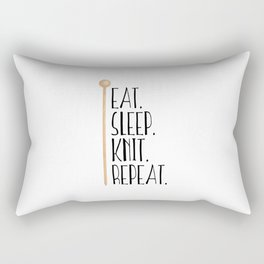 Eat Sleep Knit Repeat Rectangular Pillow