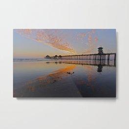 Sunset Huntington Beach Pier      10 / 22/ 13 Metal Print