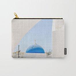Blue Church Dome on Santorini Island Greece Oia Carry-All Pouch
