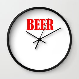 Beer The Only Good Carb T-shirt Wall Clock