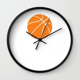 Boys Invented It Girls Perfected it Basketball T-Shirt Wall Clock