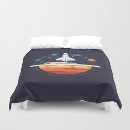 Space Shuttle & Solar System Duvet Cover