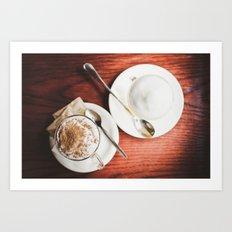 latte and hot chocolate Art Print