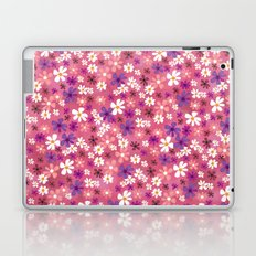 Retro Pink Flowers Laptop & iPad Skin
