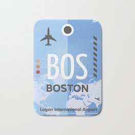 BOS BOSTON US airport code Bath Mat
