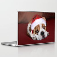 bulldog Laptop & iPad Skins featuring Bulldog by Julie Hoddinott