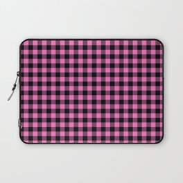Classic Pink Country Cottage Summer Buffalo Plaid Laptop Sleeve