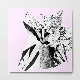 Glitch Scrunch Pink Metal Print