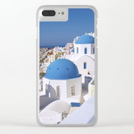 Oia Village in Santorini Clear iPhone Case