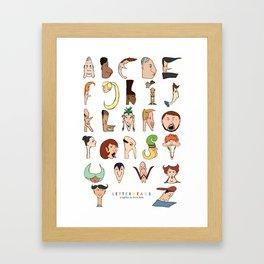 Letterheads Framed Art Print