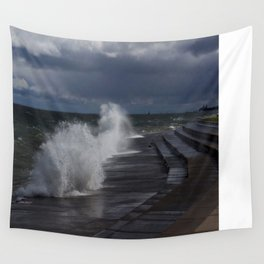 A Gale to Blow Out the Year (Chicago Waves Collection) Wall Tapestry